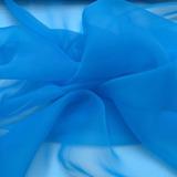 Tecido Organza Cristal Azul Turquesa- Peça Com 16 Metros