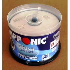 100 Dvd+r Dl 8.5gb 8x Com Logo Nipponic Lacrado
