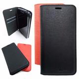 Funda Moto G5 Premium Flip Case Tapa Cover + Vidrio Templado
