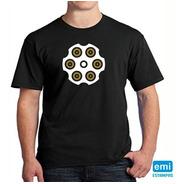 Camiseta Tambor Revolver Armas