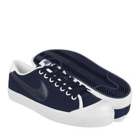Tenis Casuales Nike Para Hombre Textil Marino 417721403