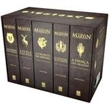 Coleção Box 5 Livros Crônicas De Gelo E Fogo Game Of Thrones