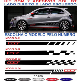 Acessorios Vw Gol G5 G6 G7 Gt Adesivos Lateral Kit