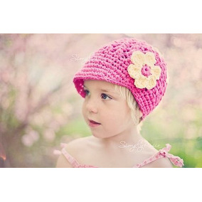 Touca Boina De Croche Flor - Infantil A Adulto - Chapeu Cap e9e85b2ddfa