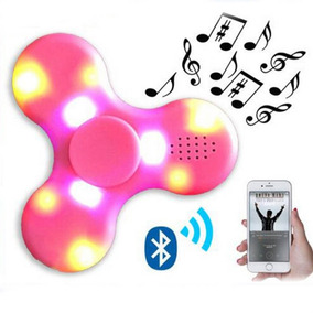 Fidget Spinner Hand Luz Led Parlante Bluetooth Bateria R Orl