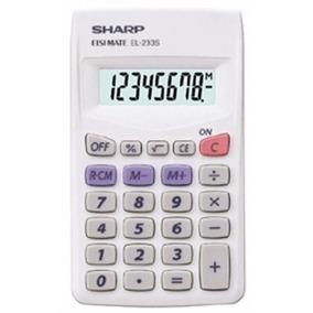 Paquete 10 Calculadoras Portátiles 8 Dígitos Sharp El-233sb