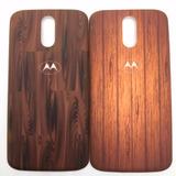Tampa Traseira Tipo Madeira Bambu Motorola Moto G4 Plus