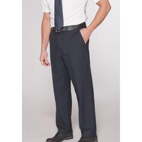 Pantalones Para Vigilante Seguridad De Gabardina Color Azul