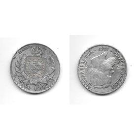 Moe100 Moeda De Prata 2000 Reis Brasil 1869