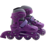 Patins Inline Rollers Skate Tam. M Roxo - Bel Sports