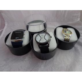 Pacote Caixa Acrílica Grande P/ Guardar Relógios C/ Espuma