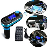 Bluetooth Usb Cargador De Coche Mp3 Player Fm Transmisor