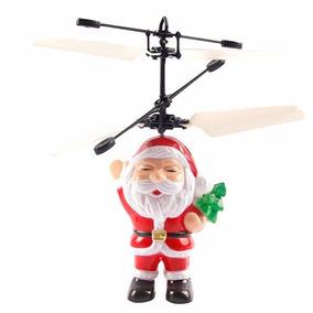 Boneco Do Papai Noel Mini Que Voa Drone Com Sensor De Mão