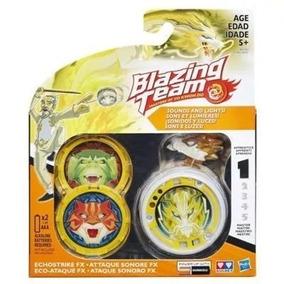 Blazing Team Ioiô Echostrike Amarelo C/ Luz E Som - Hasbro