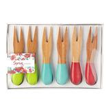 Mesa Y Cocina Krea - Set X 6 Tenedores Piqueo Sprint Krea