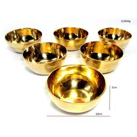 Antiguidade Maravilhoso 6 Taças Sobremesa Ouro 14k 1950 B
