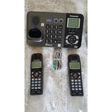 Sem Fio Panasonic Kx-tg9381 2 Linhas - Bluetooth - Sec.eletr