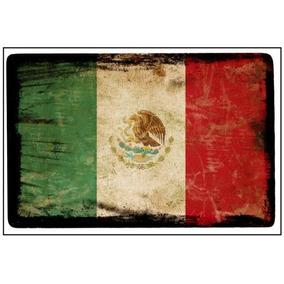 Lienzo Tela Canvas Bandera Antigua México 35 X 52 Cm