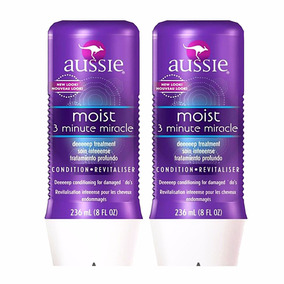 Kit 2 Máscara Moist 3 Minute Miracle Aussie 236ml