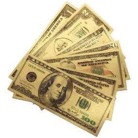 Billete Dolar Americano Oro Laminado Varios Envio Gratis