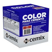 5 Piezas De Pigmento Rojo Oxido Cemix 1 Kg