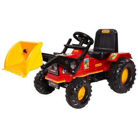 Trator Infantil Farmer Vermelho C/ Pá Pedal Buzina Biemme