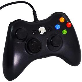 Controle Joystick Usb Com Fio Xbox 360 Pc Cor Preto