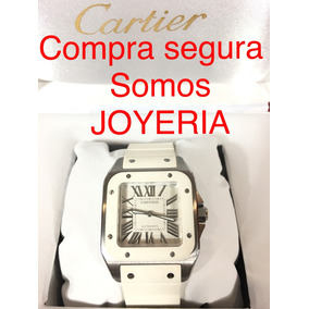 Cartier Santos 100 Mediano Unisex Caucho Con Caja Y Manual