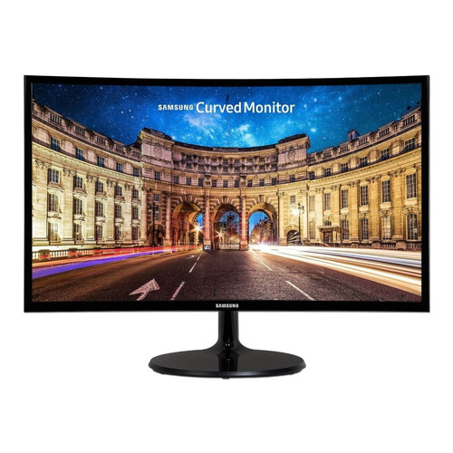 "Monitor Samsung C27F390FHL LED 27"" preto 110V/220V"