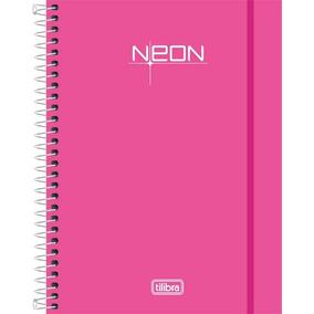 Caderno Neon Tilibra 10 Matérias 200 Fls (rosa)