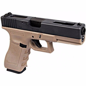Replica We Modelo 18c G3 Metal Slide Gbb Pistola Tan