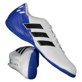 Chuteiras Adidas Azul De Zebra Do Messi - Chuteiras Adidas de Futsal ... ec03de7ee03e1