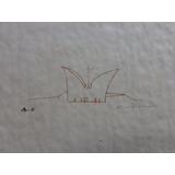 Oscar Niemeyer , Desenho À Nanquim, Estudo, 29 X 20 Cm.
