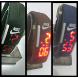 Relógio Pulseira Nike Led -kit 30 Unidades Várias Cores
