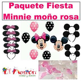Globos Minnie Moño Rosa,globo Mimi Centro De Mesa, Helio.