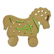 Brinquedo Alinhavo Cavalo Mdf