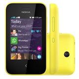 Celular Nokia Asha 230 Preto E Amarelo Dual Chip I Vitrine