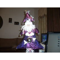 Santa Claus Morado Con Plata Muy Bonito De Liverpool Nuevo