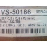 Empacadura Tapa Valvula Jeep Motor 232 Y 258 Años 64/80