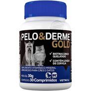 Pelo E Derme Gold 30 Cápsulas Vetnil Vitamina Cães Gatos