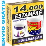 Estampas Caneca Xícara Sublimação Vetores 14.000 Artes Corel