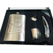 Cantil Jack Daniel's/jonnie Walker /jim Beam 4 Peças