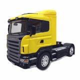Scania R470 Miniatura Metal 1/32 Amarela Cavalinho D Carreta