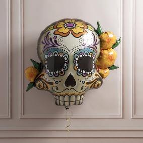 Globo Catrina Día De Muertos Halloween 38 Pulgadas 96 Cm