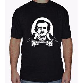 Edgar Allan Poe Remera Estampada Con Vinilo Inalterable