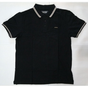 41114b007c Camisa Polo Sommer Preta Frisos 025310541 Masculina Original