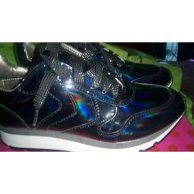 Zapatos Tornasol 36 Jump Danu Patente Azul Brillante