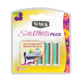 Schick Efectos De Seda Plus Refill Cuchillas, 5 Palas De Rec