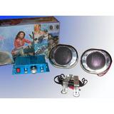 Kit De Musica Audio Para Tu Moto 360w Parlantes + Potencia