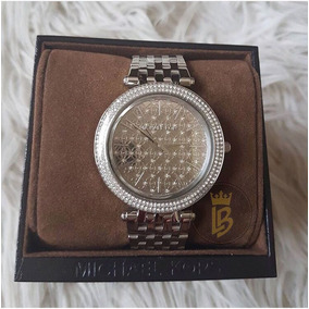 Relógio Michael Kors Mk3404 Prata Slim Com Marca D
